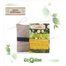 Мочалка льняная с органическим мылом «Нежная»